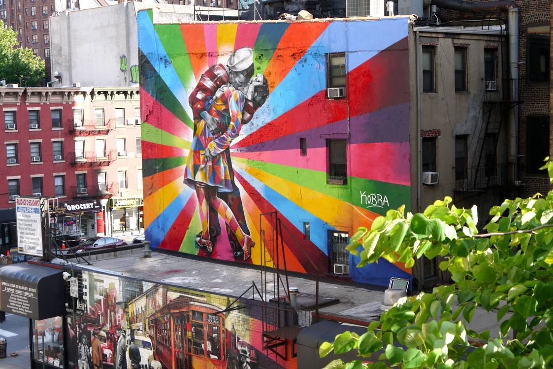 high line new york street art