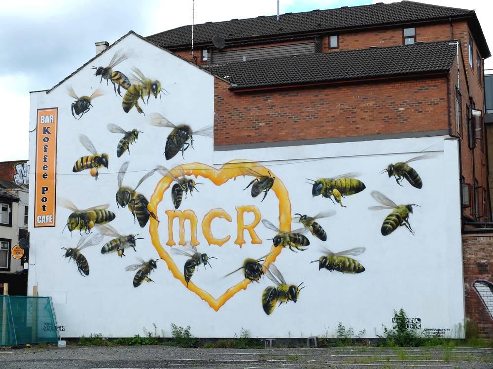 bees manchester street art