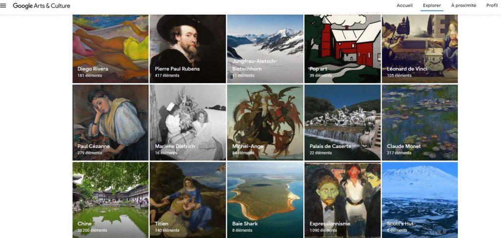 google arts culture
